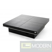 A&X Horizon - Modern Crocodile Black Coffee Table with Pull Out Squares - AK856-120A