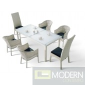 Renava H10 White Patio Dining Set