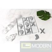 "10"" Africa Luxury Silver Acrylic Tic Tac Toe"