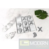 "20"" Africa Luxury Silver Acrylic Tic Tac Toe"