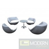 Cocoon Outdoor Silver Seating Set
