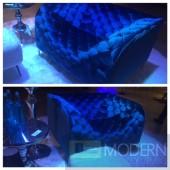 Epiphany Neon Blue Velvet Armchair