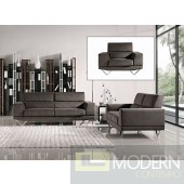Italian Design Grey Fabric Sofa Set