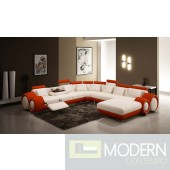 4084 Contemporary Leather Sectional Sofa