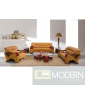 Divani Casa 2034 Modern Camel leather Living Room Set