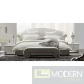 Modrest Melody - Leatherette Padded Modern Bed