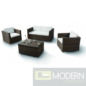 H0831 - 4 Pieces Modern Patio Sofa Set