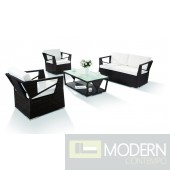 H0909 - 4 Piece Modern Patio Sofa Set