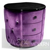 A&X Palace - Purple Fabric Nightstand