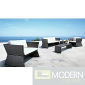 Tahiti - Black Modern Patio Sofa Set