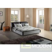 Modrest Modern Black and White Leatherette Bed
