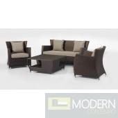 Maldive - Modern 4 Piece Patio Sofa Set