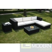 Outdoor Sectional Sofa With Back Cushion