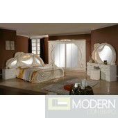 Gina - Made in Italy White 5 Pieces Bedroom Set