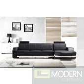 Divani Casa T305 - Modern Bonded Leather Sectional Sofa