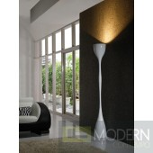 Modrest LP11 - Modern Hourglass White Floor Lamp