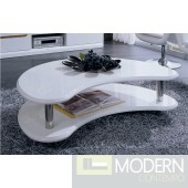 Modrest 201171 - Modern White Lacquer Coffee Table