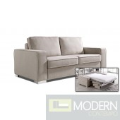 Divani Casa Sultan - Modern Fabric Sectional Sofa Bed