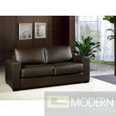 Divani Casa Dual Modern Chocolate Brown Leather Sofa Bed