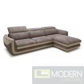 Divani Casa Azalea - Modern Fabric Cappucino Sectional Sofa