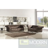 Divani Casa Soren - Transitional Tufted Fabric Sofa Set
