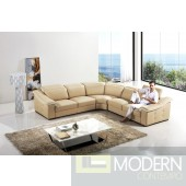 Divani Casa T296 - Modern Leather Sectional Sofa