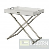 A&X AK831-50 Modern White Crocodile Tray Table
