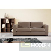 Divani Casa Dual Modern Brown Leather Sofa Bed