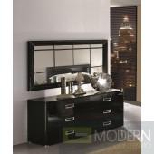 LA STAR - Modern Black Double Dresser