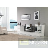 Modrest Maryland White 3-Piece Entertainment Center