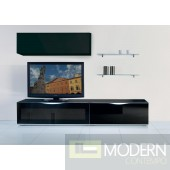 Modrest Modena - MO-USA3 Modern Black TV Entertainment System Made in Italy
