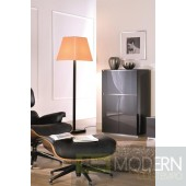 Modrest Verona - VR275 Shiny metallic charcoal grey Made in Italy TV Entertainment System