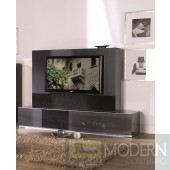Modrest Verona - VR4 Shiny metallic charcoal grey Made in Italy TV Entertainment System
