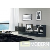 Modrest Maryland Black 3-Piece Entertainment Center