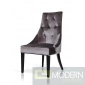 A&X AA031 Grey Velour Dining Chair