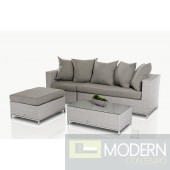 Renava Reef - Modern Outdoor Patio Set with Ottoman and Table