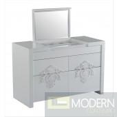 Temptation Juliet Modern Grey Vanity Dresser