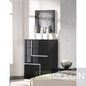 Modrest Moda Contemporary Black Bedroom 5-Drawer Chest