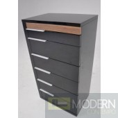 Modrest Alaska Modern Black and Walnut Chest