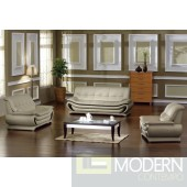 2801 - Modern Bonded Leather Sofa Set