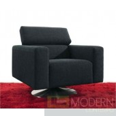 Divani Casa Casey - Modern Fabric Swivel Leisure Chair