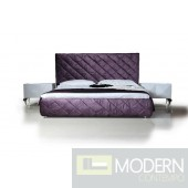 Versus Eva - Modern Purple Fabric Platform Bed