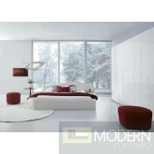 Modrest Pisa Modern White Leatherette Platform Bed