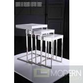 Armani Xavira 3 PC Coffee Table Set