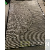 Strips  Black and white   Rug
