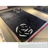 Bedazzled ROSE Black Rug