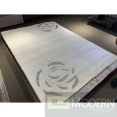 Bedazzled Rose White Rug
