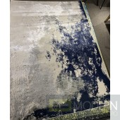 Tapis Frenzy Gray White and Blue Rug