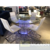 VENEZIA LED Round Dining table with crystals