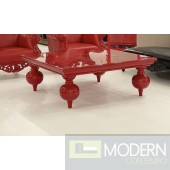Bugatti X Red Lacquer Coffee Table
